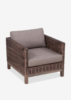 (LS) Durham Modem Club Chair-Leles Grey Color (30x35x24)..