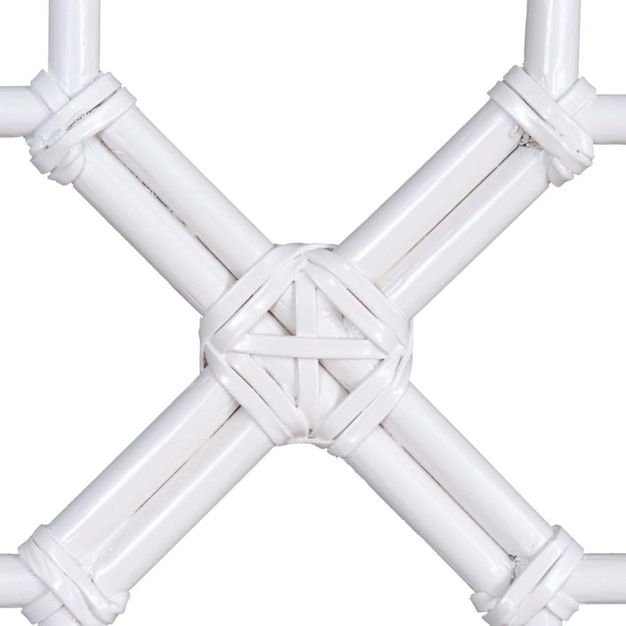 Lattice Headboard-Queen - White Solid (62X2X60)