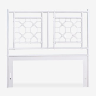 (LS) Lattice Headboard-Queen - White Solid (62X2X60)