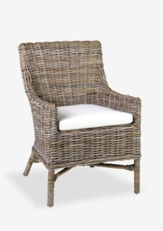 (SP) Morgan rattan arm chair - grey patina..(23.5X26.5X35)....