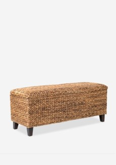 (LS) Woven Bench with Storage..