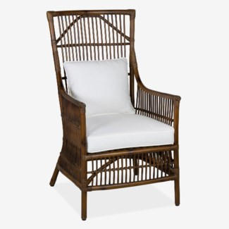 Winston Rattan High Back Arm Chair (24x27x43)