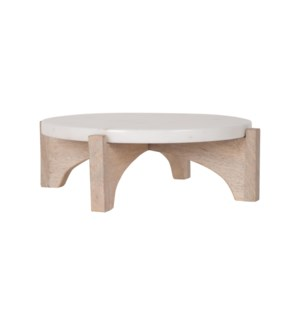 "Arne 10"" Marble & Wood Cake Stand"