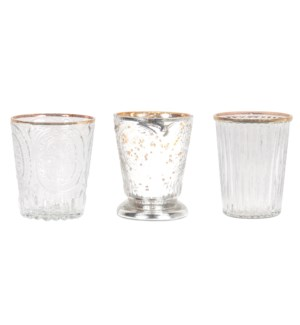 Elio Glass Votives, Set/6