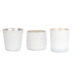 Lyssa Glass Votives, Set/6