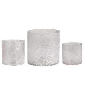 Rhys Smoke Glass Votives, Set/3 MOQ2