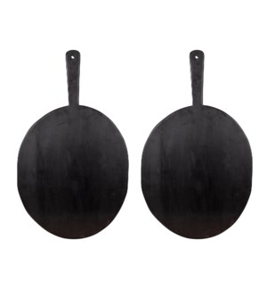 "Legna 16"" Wood Serving Boards-Set of 2"
