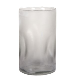 Lorna Large Glass Vase-Candle Holder, Smoke