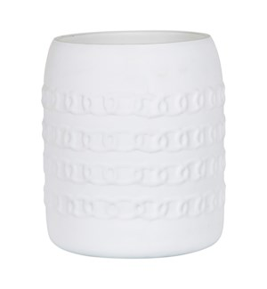 "Alysida 6"" Vase-Candle Holder, Matte White"