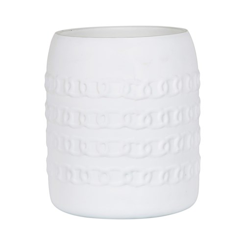 "Alysida 6"" Candle Holder-Matte White"
