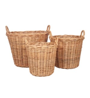 "Callie Round Basket Set of 3 - Natural (19""x19""x18"")"