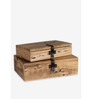 (SP) Decorative wooden box set - 2 (16x10x5 / 11x8x4)
