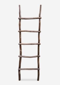 Organic Decorative Ladder - Antique Brown