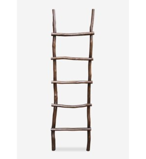 (LS) Organic Decorative Ladder - Antique Brown