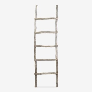 Organic Decorative Ladder - Vintage Grey