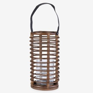 (LS) Round Lantern - Brown