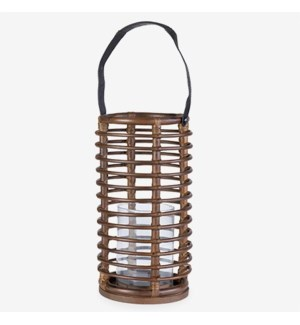Harbor Round Lantern - Brown