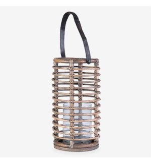 Harbor Round Lantern - Natural Brown