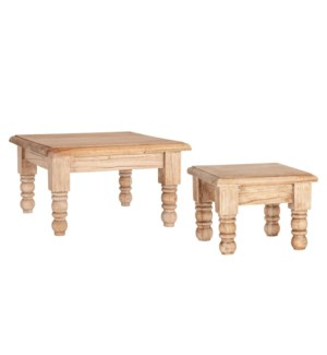 Meja Wooden Risers- Antique Finish-Set 2
