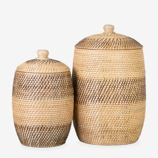 Lombok Striped Basket - Set of 2