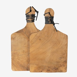 Rifle Cutting Board Set of 2 with Leather Handle