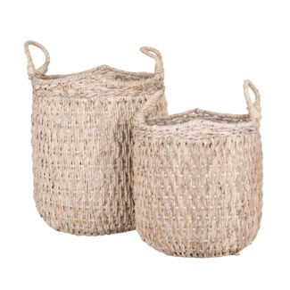 Avalone Oversize Seagrass Basket - Set 2