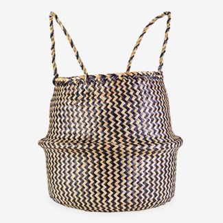 Collapsible Woven Basket - Brown