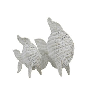 Nerida Set of 2 Woven Fish