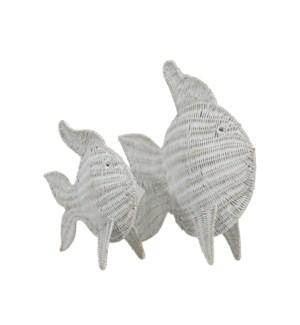 Nerida Set of 2 Woven Fish