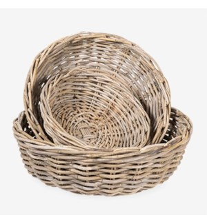 Mona Round Rattan Planter Set of 3