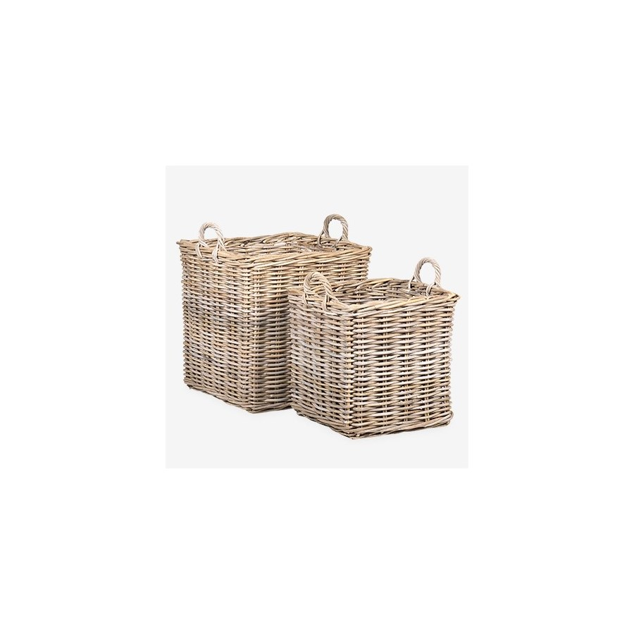 Mona Square Rattan Basket Set of 2 - L/XL..