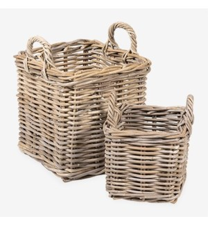 Mona Square Rattan Basket Set of 2 - S/M..