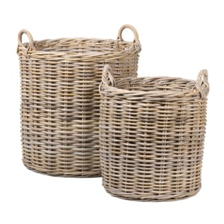 Mona Round Rattan Basket Set of 2 - L/XL