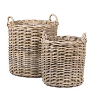 Mona Round Rattan Basket Set of 2 - L/XL..