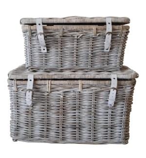 Bocita Lidded Rattan Baskets Set