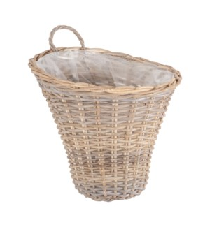 Sorrel Woven Hanging Flower Basket, MOQ 5