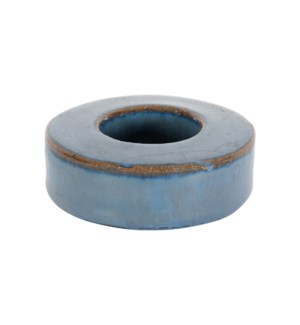 Ash Stoneware Votive, Blue