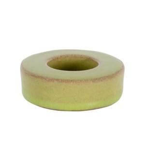 Ash Stoneware Votive, Green