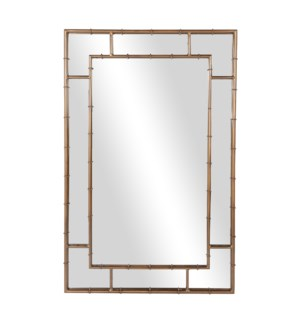 Chamblee Rectangle Mirror, Antique Brass