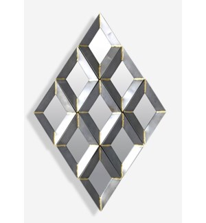 (LS) Zinc Finished With Brass Weldings Metal Wall Decor (42.25x25.25x1.5)