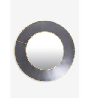 (LS) Zinc Finished With Brass Weldings Metal Concave Mirror (17.75x19.75x3)