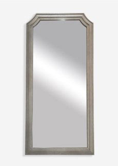 """(LS) 78""""x38"""" Mirror with Carved Wood Frame (38.19X1X77.95)"""
