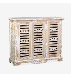 (33.33% Off) Ambon 3-Door Carved Cabinet