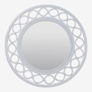 Savannah Round Mirror - White (35x2x35)