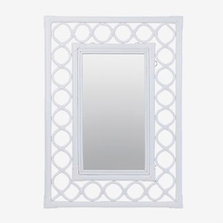 Savannah Rectangular Mirror - White (26x2x36)