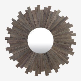 Monterey Sunburst Mirror - Gray Wash