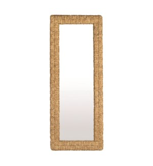 Delmare Cross Hatch Leaning Mirror, Waterhyacinth