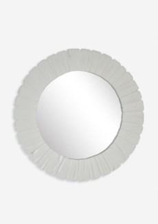 "(LS) Sedona Round Mirror Big-Dia 35""-WH..(35x1.5x35).."