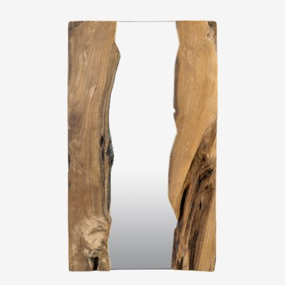 "39"" X 24"" Live Edge Rectangle Organic Mirror (39x1.5x24)Material/color: Wood Natural/ MirrorCBM: 0"