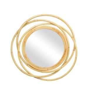 """Kalan 46"""" Round Mirror-Natural"""